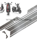 Niu NIU N1S Stickerset Striping Mat Zwart