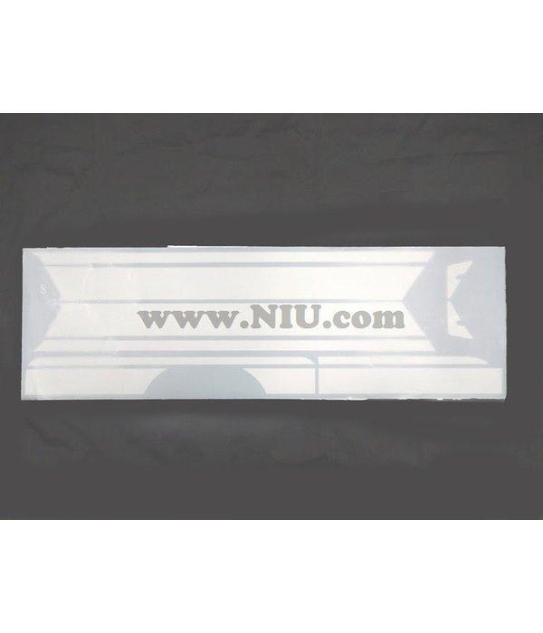 Niu NIU N1S Stickerset Striping Wit