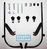 Scootercentrum Sym Fiddle 2 Smoke Hoog Windscherm inclusief bevestigingsset van scootercentrum