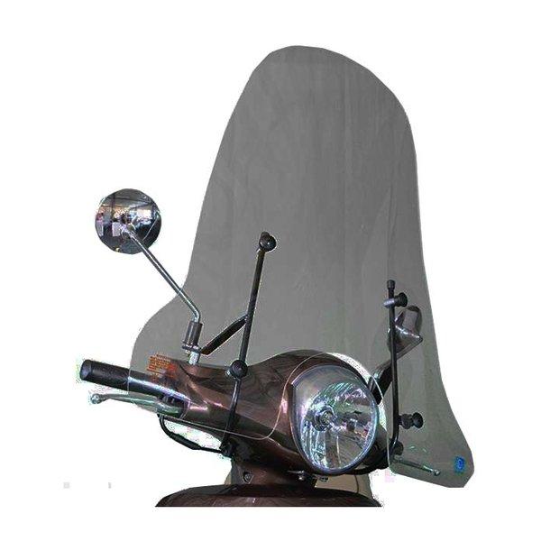 Sym Fiddle 2 Smoke Hoog Windscherm inclusief bevestigingsset van scootercentrum