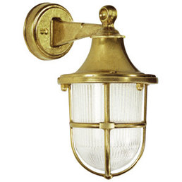 Exterior wall light brass antique
