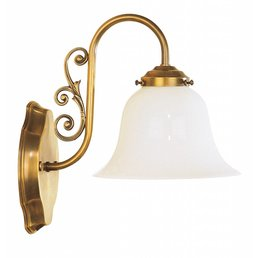Wall lamp Art Nouveau antique brass