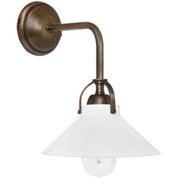 Wall lamp ceramic brass cast