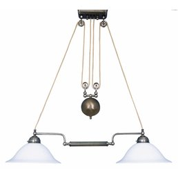 Lampe à suspension réglable en hauteur avec un poids