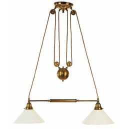 Lamp antique brass height adjustable