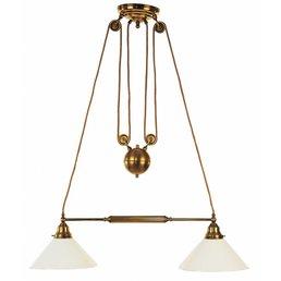 Lampe laiton antique réglable en hauteur