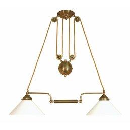 Lamp antique brass height adjustable