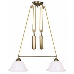 Lamp antique brass luminaire height adjustable