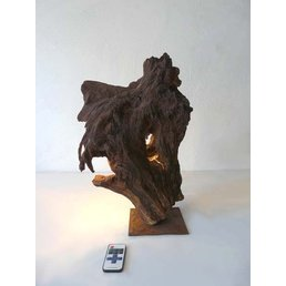 Table light Wooden sculpture height ca. 45 cm