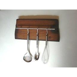 Küchenleiste aus altem Fachwerkbalken ~ 52 cm