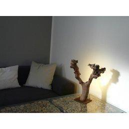 Lampe LED bois d'objet lumière Hauteur 45 cm
