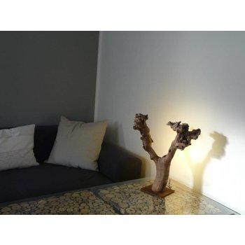 Led objet lampe en bois clair
