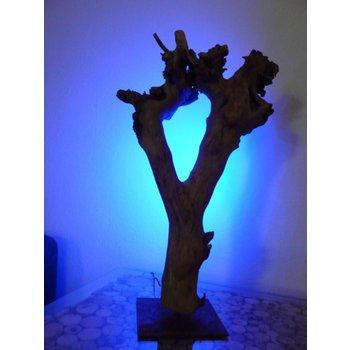 Led Lichtobjekt Tischleuchte Holz