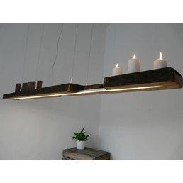 LED Lampe Hängeleuchte antik Balken ~ 187 cm