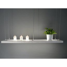 Hängelampe Wooden Shabby Chic with upper and underlight incl. Remote control ~ 120 cm