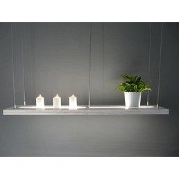 lampe suspendue en bois Shabby Chic avec haut u. bas Voyant lumineux incl. commande à distance ~ 120 cm