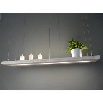 lampe suspendue en bois Shabby Chic avec la lumière supérieure et inférieure