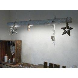 Shabby Chic Lampe en bois flotté ~ 136 cm