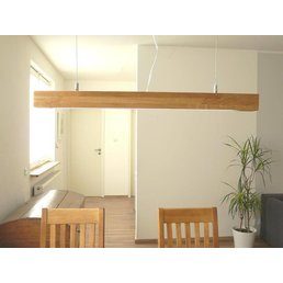 LED hanging lamp wood, oiled oak ~ 80 cm