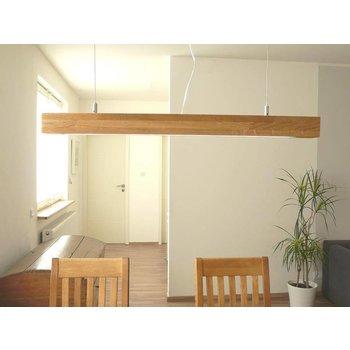 Lampe LED suspendue bois clair chêne huilé ~ 80 cm