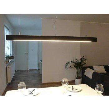 Lampe à suspension bois couleur noyer ~ 120 cm