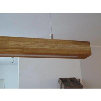XXL hanging lamp light oak, oiled, LEDs warm white ~ 180 cm
