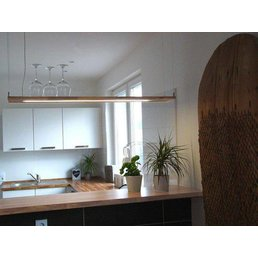 Led hanging light wood beech ~ 120 cm