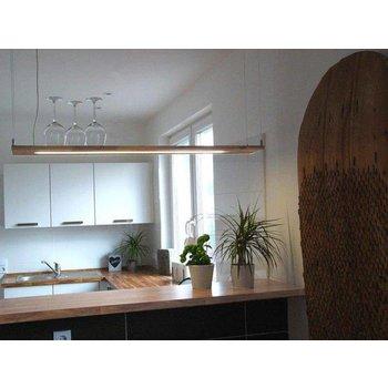 Lampe suspendue LED bois hêtre