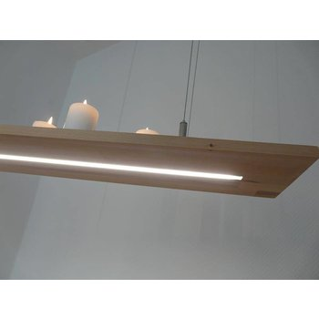 Lampe à suspension en bois de hêtre ~ 80 cm