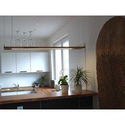 Hängelampe Holz Akazie ~ 120 cm