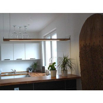 Hanging lamp wood acacia ~ 120 cm