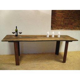 XXL Dining table from antique oak wood planks