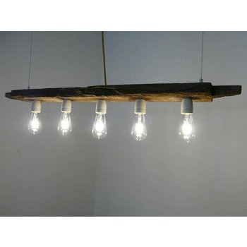 LED lamp hanging light wood antique beams
