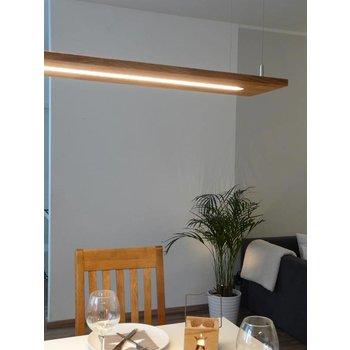 Lampe à suspension lampe bois chêne naturel huilé ~ 120 cm