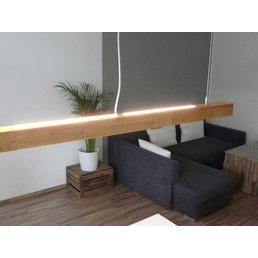 Suspension bois chêne huilé 120 cm avec variateur