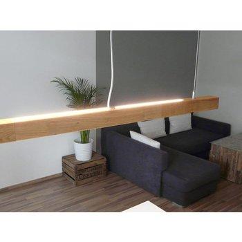 Hängeleuchte Holz Eiche geölt 120 cm mit Dimmer