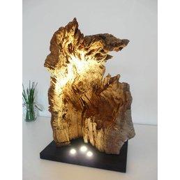 Sculpture en bois de ronce XL en bois de chêne ~ 73 cm