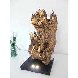 XL burl wood sculpture made of oak ~ 70 cm