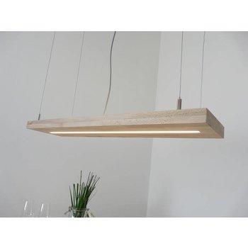 Hängelampe Holz Buche mit Ober und Unterlicht