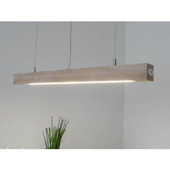 Lampe LED suspension bois hêtre ~ 80 cm