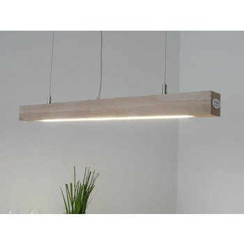 LED lamp hanging lamp wood beech ~ 80 cm