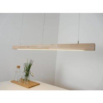 Lampe à suspension bois hêtre ~ 120 cm