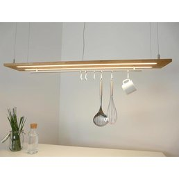 Hanging lamp light wood oak natural oiled ~ 120 cm