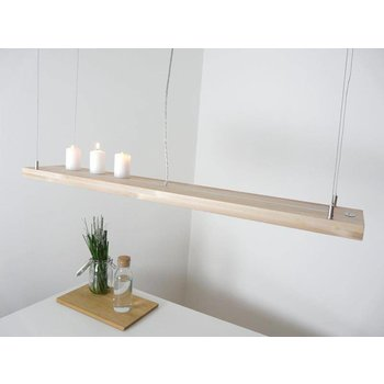 Dining table lamp wood beech incl. Remote control ~ 120 cm