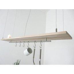 Hängelampe Leuchte Holz Buche ~ 120 cm