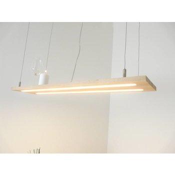 Lampe à suspension bois clair hêtre ~ 120 cm