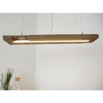 rustic light from antique beams