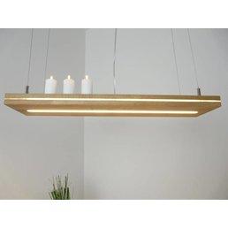 """Lampe à suspension """"Sandwich"""" en chêne huilé ~ 80 cm"""