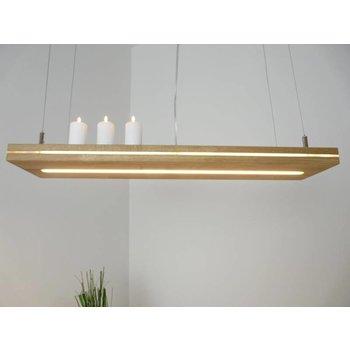 """Lampe suspendue """"Sandwich"""" chêne huilé ~ 80 cm"""