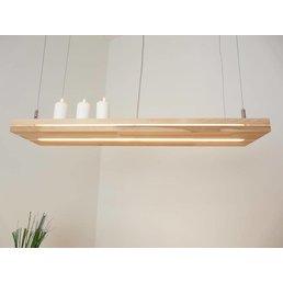 """Lampe à suspension """"Sandwich"""" en bois de hêtre ~ 80 cm"""